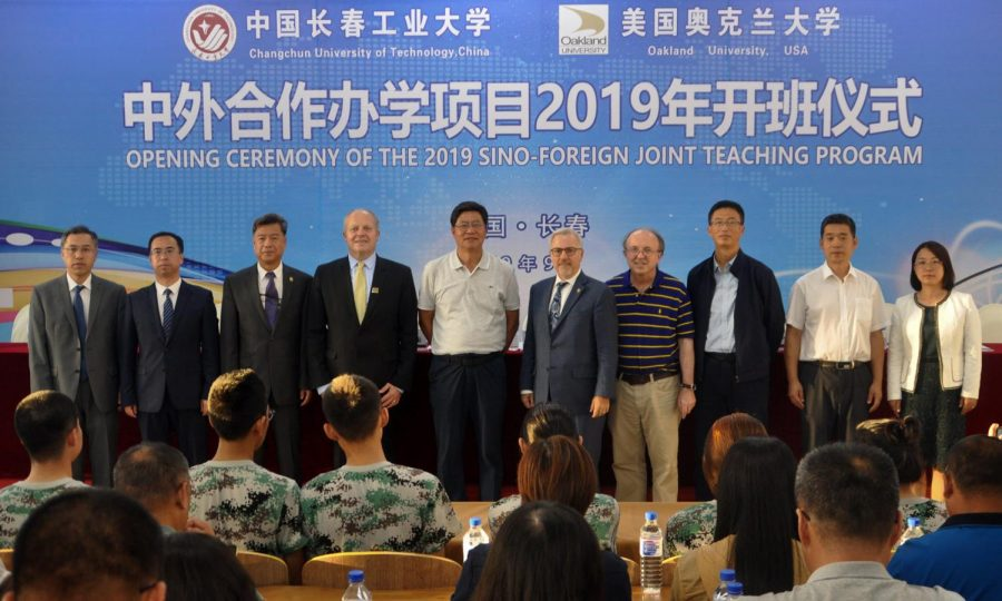 The+OU+delegation+at+the+Opening+Ceremony+of+the+2019+Sino-Foreign+%28CCUT-OU+2%2B2%29+Joint+Teaching+Program.
