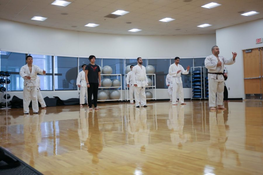 New to Oakland University, the karate club is affiliated with the International Shotokan Karate Federation.