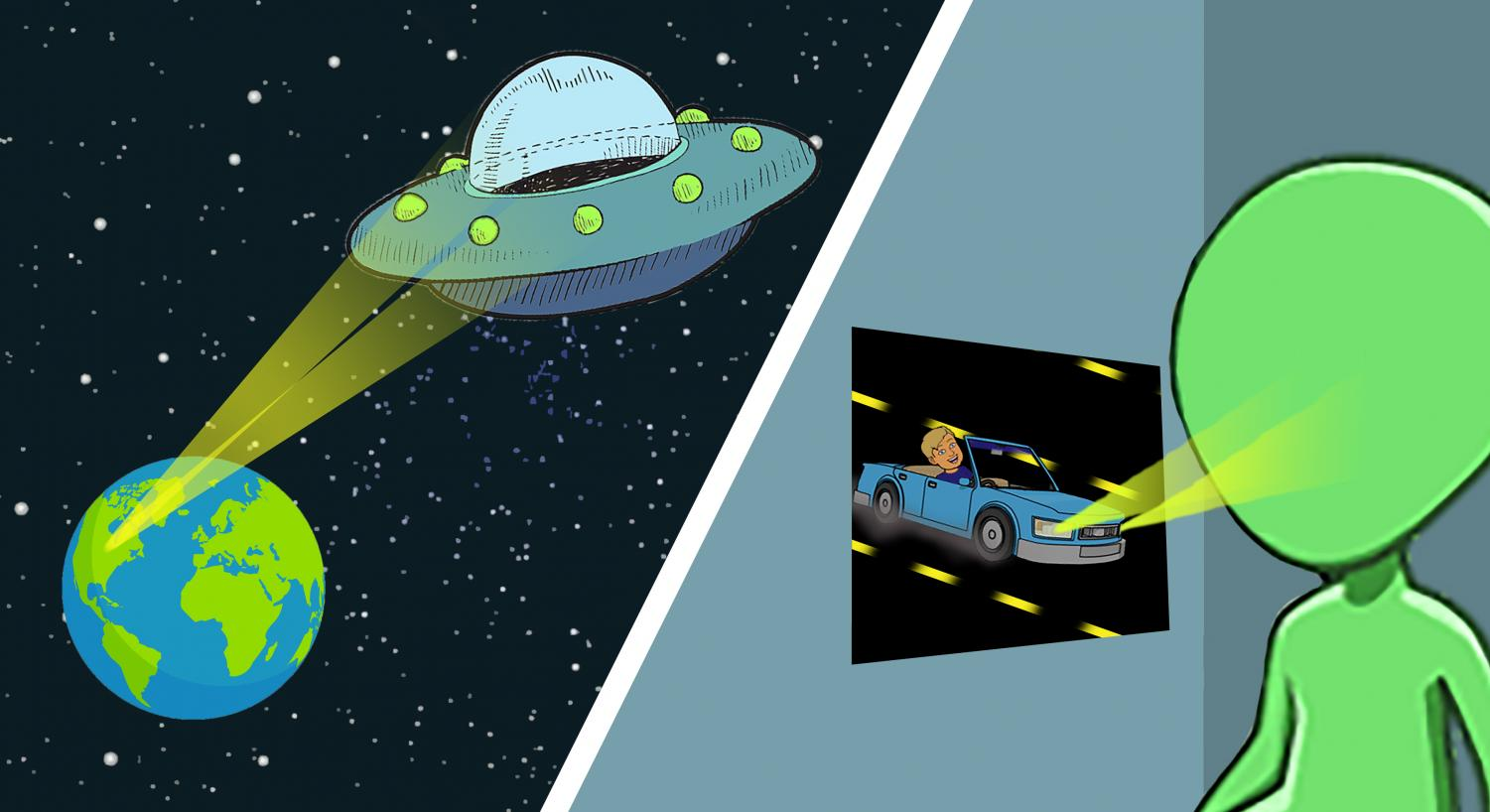 The use of car brights has become an epidemic that is causing alien blindness.