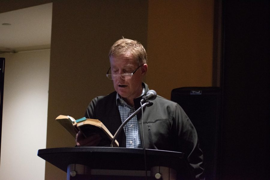 """Readers tell the story of """"Moby Dick"""" over the course of more than 16 hours at the 14th Annual English Department Read-In beginning Friday, Oct. 11."""