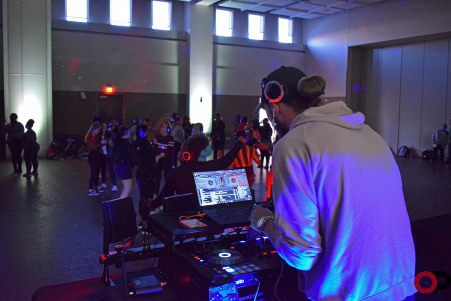 The Student Program Board hosts its first silent disco on Tuesday, Oct. 8. The event included DJs and headphones for private music enjoyment.