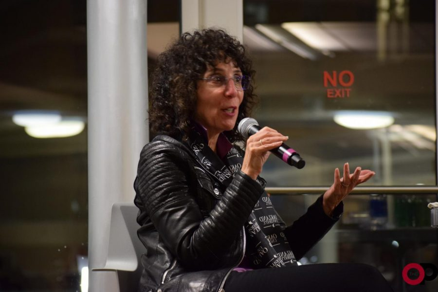 President Ora Hirsch Pescovitz discusses student debt and other campus concerns at Ask Ora on Thursday, Nov. 14.