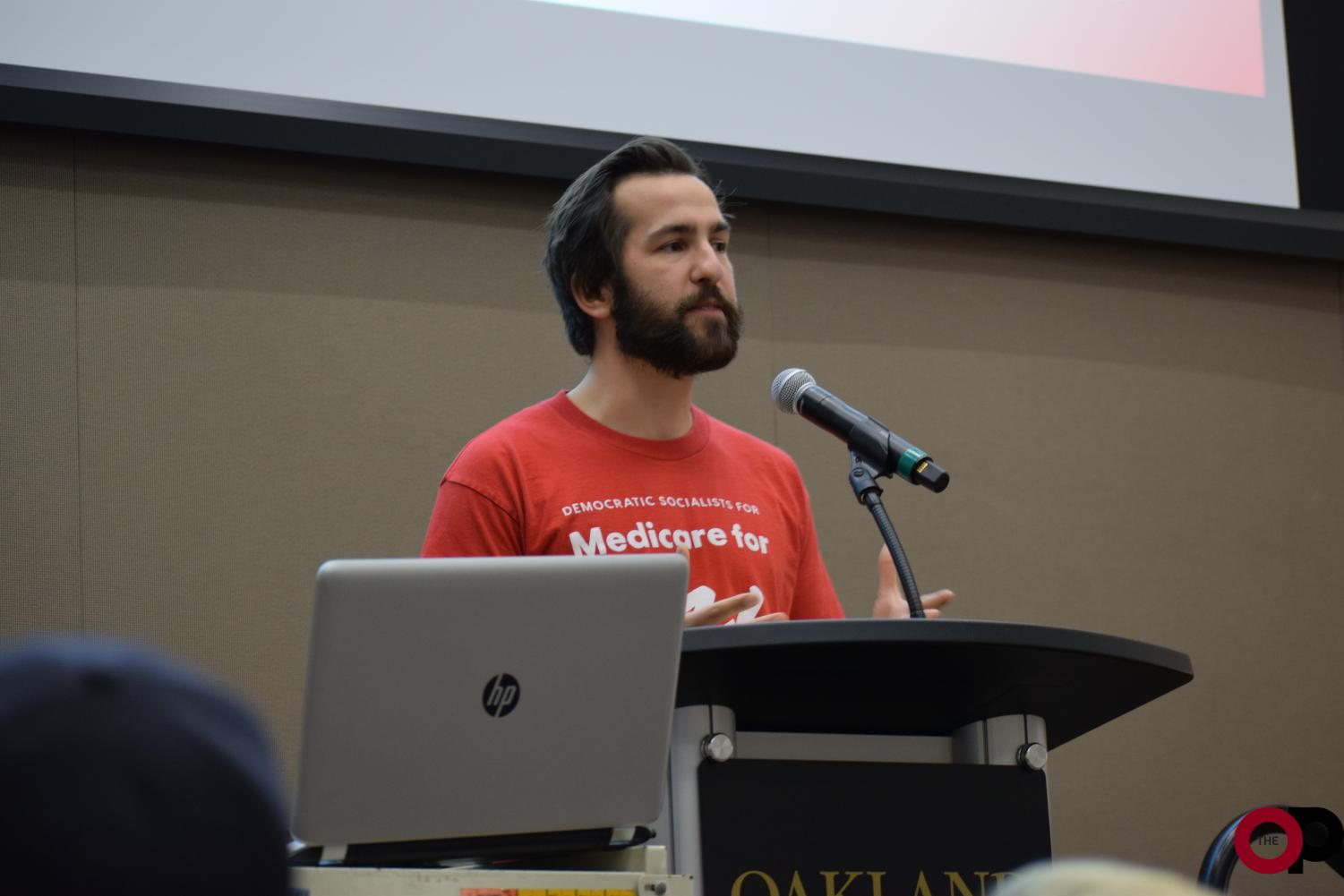 The Young Democratic Socialists of America of Oakland University (YDSA) hosts a town hall event to support Medicare for All on Wednesday, Nov. 6.