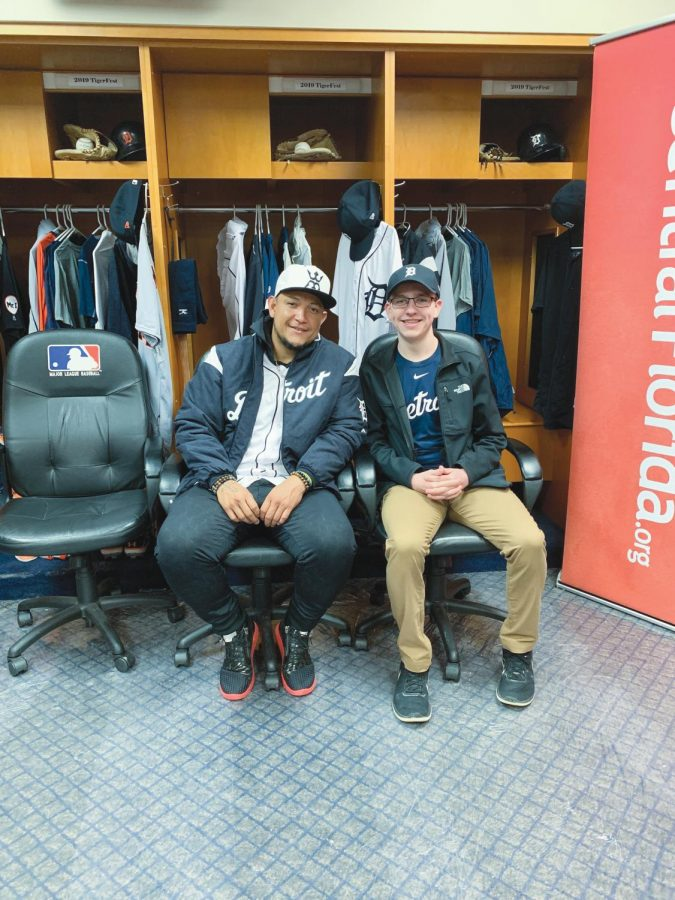 Dombrowski with Detroit Tigers all-star Miguel Cabrera