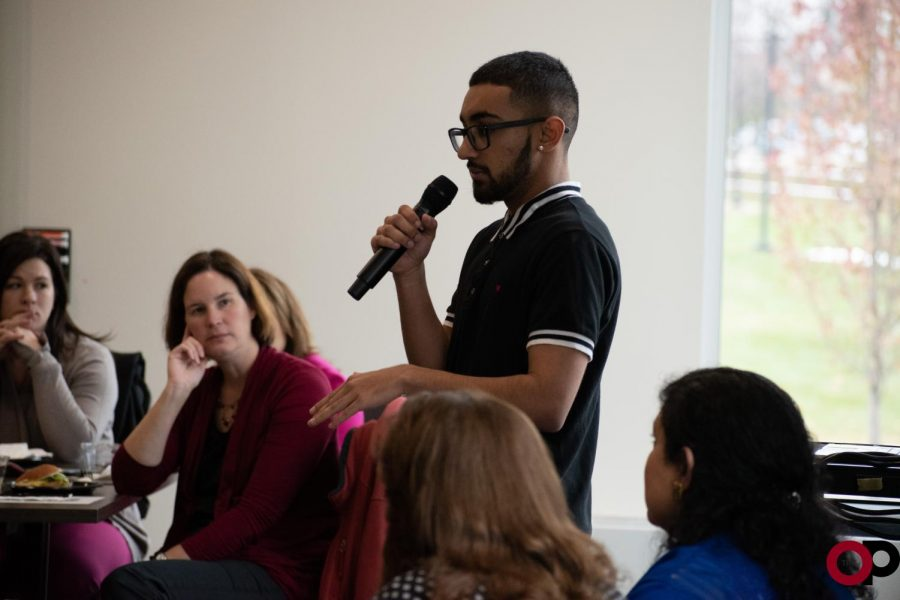 Jay Amin tells his story of coming out and finding support during Transgender Day of Remembrance on Wednesday, Nov. 20.