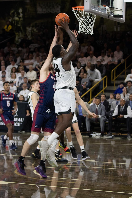 Men's basketball defeats University of Detroit Mercy 78-69 on Saturday, Dec. 28, 2019.