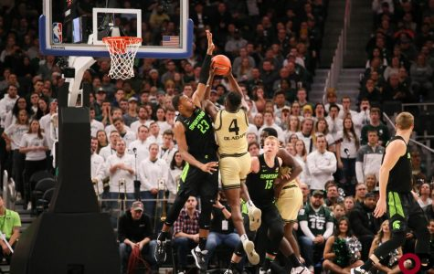 The Golden Grizzlies fall 72-49 to Michigan State University on Saturday, Dec. 14, 2019 at Little Caesar's Arena.