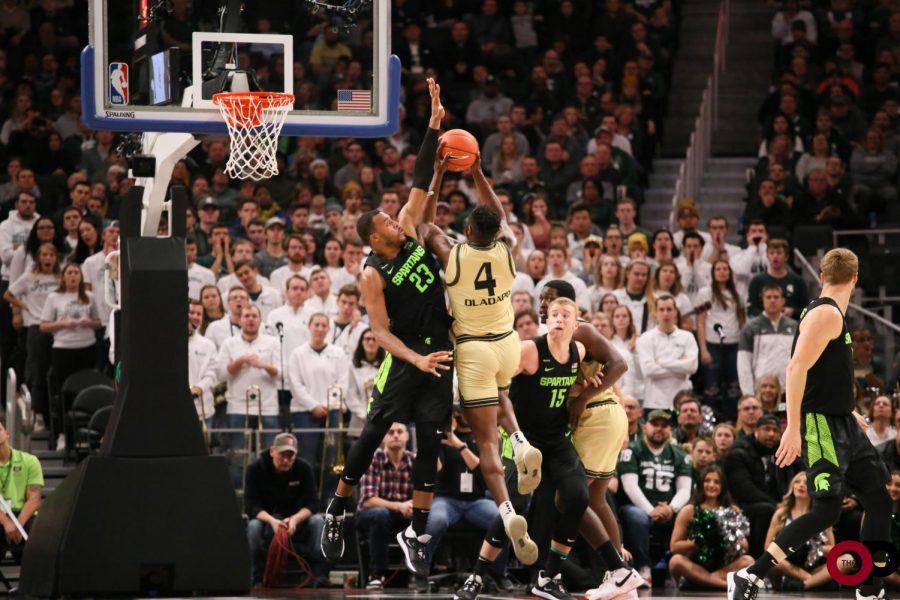 The+Golden+Grizzlies+fall+72-49+to+Michigan+State+University+on+Saturday%2C+Dec.+14%2C+2019+at+Little+Caesar%E2%80%99s+Arena.%0A