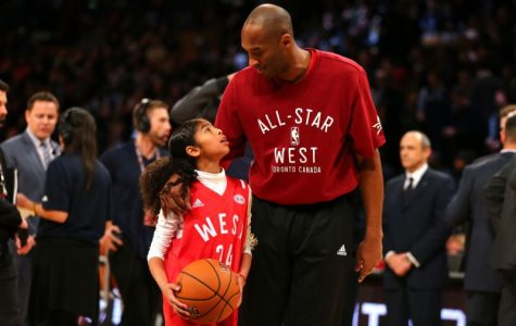 Kobe and GiGi Bryant at the All Star Gane in Toronto. Credit: Yahoo Sports