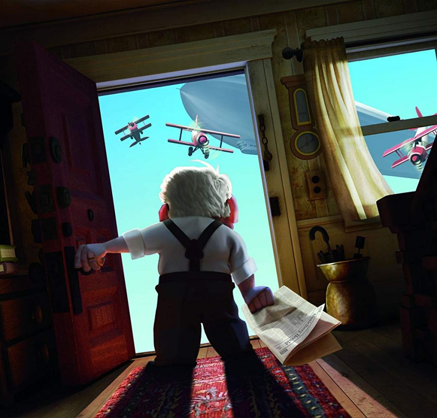 Carl Fredricksen, from the Pixar film Up, opens the door to adventure