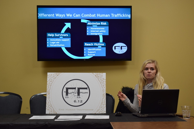 OU-based organization Freedom Fighters hosts an event to discuss career paths for helping victims and survivors of human trafficking on Wednesday, Feb. 5.