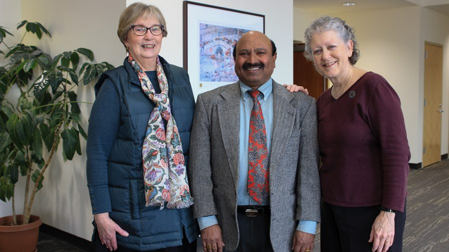 Linda Pavonetti, Vijayan Sugumaran and Karen Sheridan are appointed to the rank of Distinguished Professor at the Board of Trustees formal session on Monday, Feb. 10.