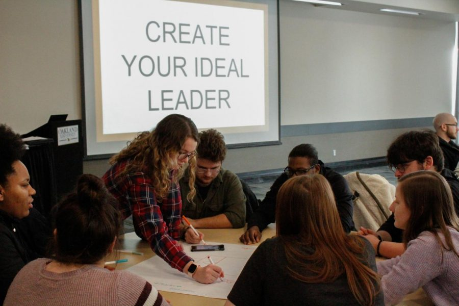 Students+discover+their+leadership+styles+during+the+OSI+ExplOUration+Series+on+Monday%2C+Feb.+10.+The+event+was+one+of+several+Kindness+Week+activities.%0A