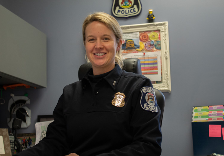 OUPD Lieutenant Nicole Thompson is the department's first female and youngest commanding officer.