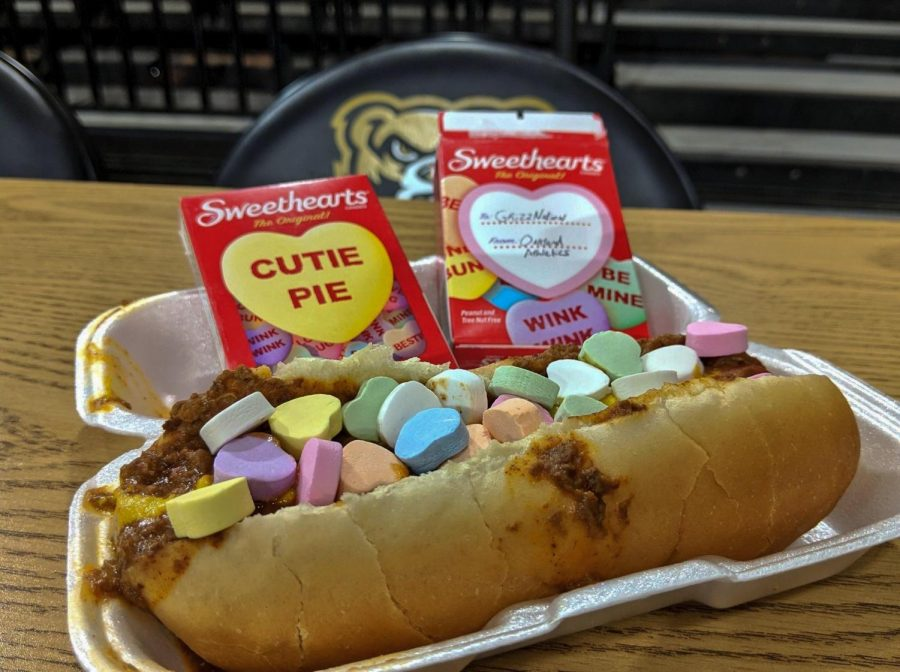 "The ""Sweetheart Dog"" was available at the O'rena over Valentine's Day weekend."
