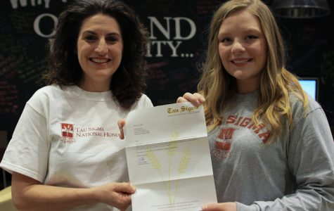 Senior Lydia Schwerin received a $4,000 scholarship from the Tau Sigma National Honor Society.