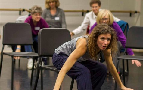 Associate dance professor and former Rockette Ali Woerner co-founded professional dance group Take Root with Thayer Jonutz.