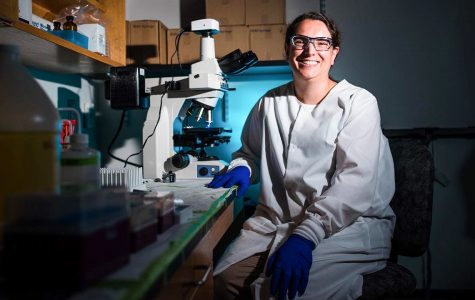 Sara Blumer-Schuette's research on how pathogens attach to surfaces will be included in the Applied and Environmental Microbiology journal.