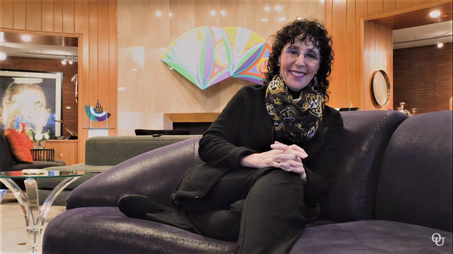 President Ora Hirsch Pescovitz updates the campus community on OUs coronavirus response in a video from her home Friday, March 27.