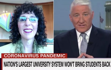 President Ora Hirsch Pescovitz discussing Oakland University's 2020 graduation on CNN.