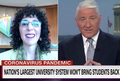President Ora Hirsch Pescovitz discussing Oakland University's 2020 graduation on CNN.