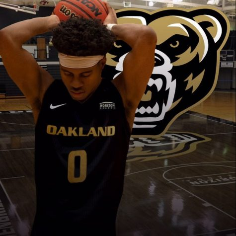 Young posted this photo on Twitter to announce his commitment to Oakland University