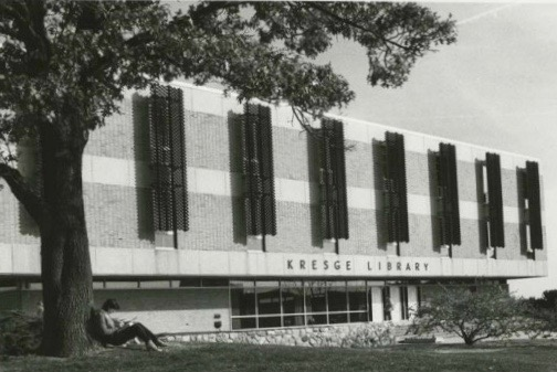 This is what Kresge Library looked like when Rose Cooper began her career as a professor at OU 47 years ago.  Photo Courtesy of Kresge Library archives
