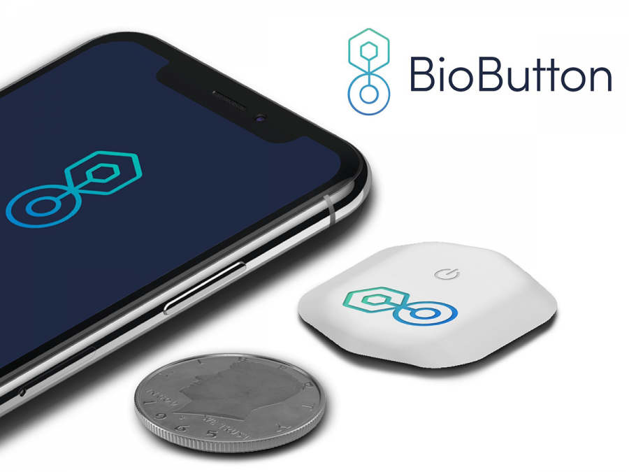 The BioButton, which will be optional this school year. Photo / Biointellisense Inc.