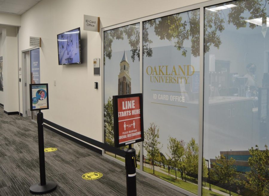 The+ID+card+office+is+located+on+the+main+level+of+the+Oakland+Center.+One+visitor+is+allowed+to+enter+at+a+time%2C+right+now.+