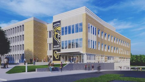 This is a projection of what Wilson Hall is expected to look like after renovation. The project is expected to finish in 2022.