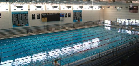 Oakland University has an Olympic sized swimming pool in the Recreation Center.