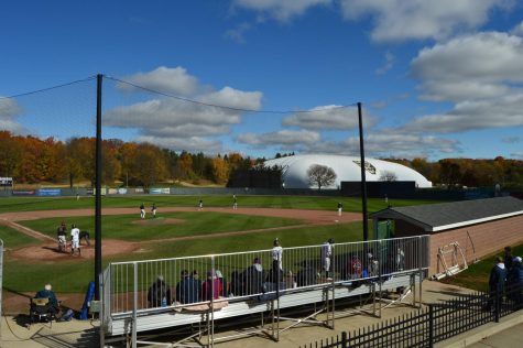 The baseball team held game two of their fall world series on Saturday, Oct. 24. Their season will resume on Friday, Feb. 19.