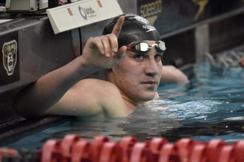 Swimmer Marko Khotynetskyi won Swimmer of the Year in his first season with the Golden Grizzlies