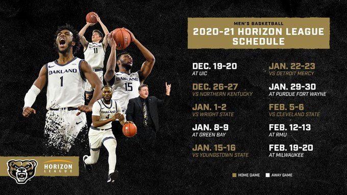 The mens basketball 2020-2021 conference schedule.