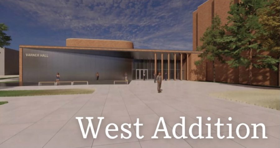 The west entrance will look different after its expansion. This is not the final design but the current draft.