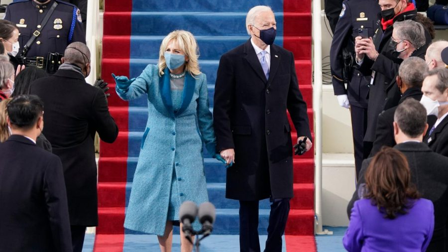 Joe and Jill Biden on inauguration day.