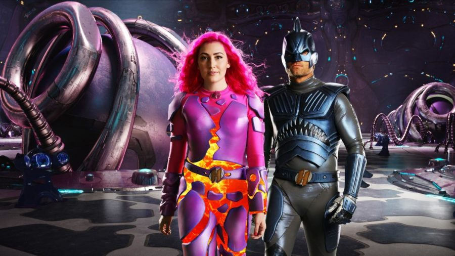 "Lavagirl and Sharkboy from ""The Adventures of Sharkboy and Lavagirl"" are adults now and  have joined a group of superheroes to protect Earth. When their powers are failing, their children have to step in and help save Earth though."