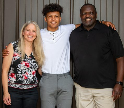 Trey with his mother, Nicole, and father, Skip.