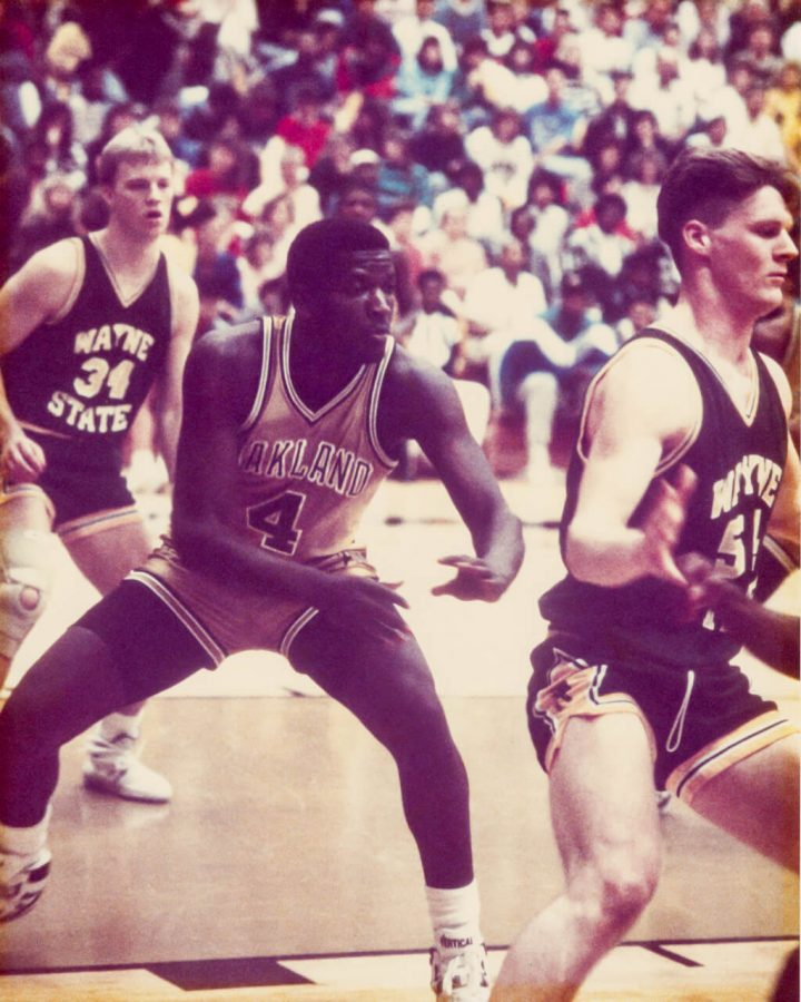 Trey's father Skip playing for Oakland against Wayne State in the late 80s.