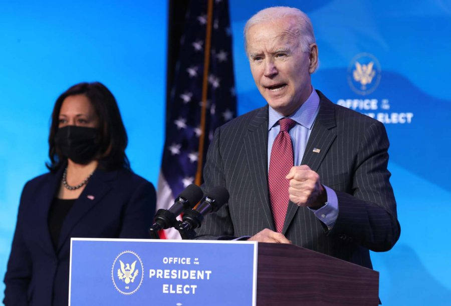 Biden has promised to not back down from a $1,400 stimulus for the next relief package.
