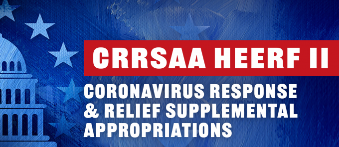 CRRSAA funds went out sometime around Feb. 12 through direct deposit or a check in the mail.