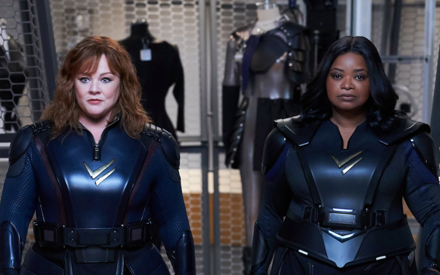 Melissa+McCarthy+and+Octavia+Spencer+in+%22Thunder+Force.%22+The+movie+was+like+a+charged+up+Disney+Original+Movie.