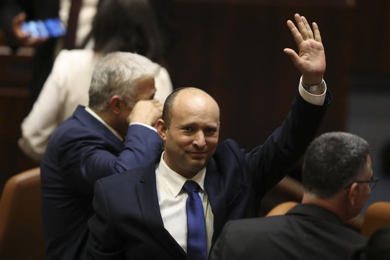 New+Israeli+Prime+Minister+Naftali+Bennett+acknowledges+the+press+while+being+sworn+in+earlier+this+month.+With+Israel%27s+new+leadership+there+is+chance+for+improved+stability+in+the+region.