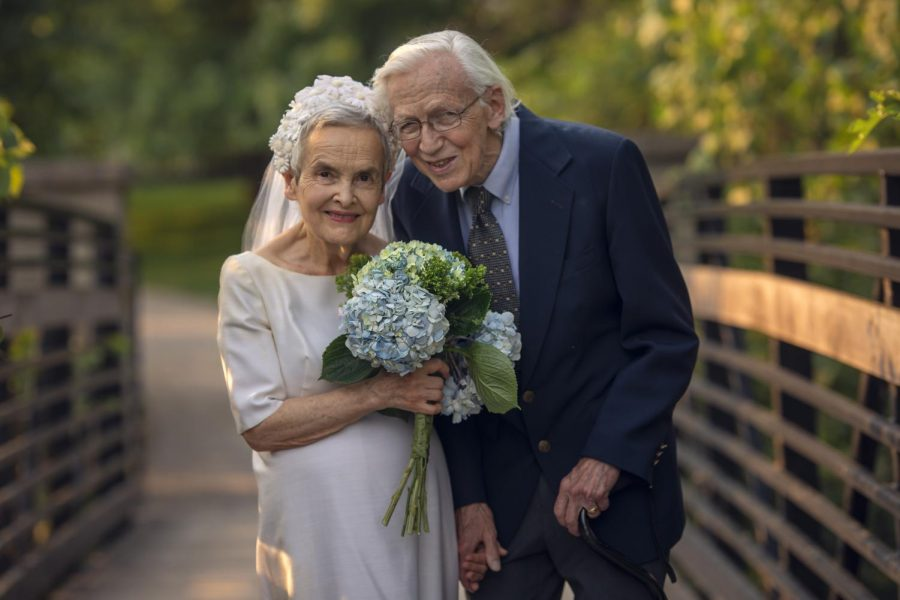 Retired OU English faculty Bob & Jane Eberwein celebrate 50 years of marriage.