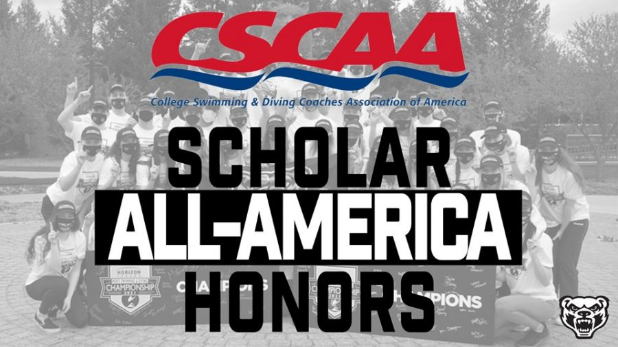 The OU swimming and diving program received Scholar All-America honors.