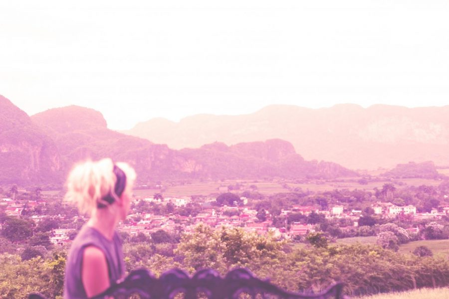 Kaleigh Wright looking out over the city of Viñales, Cuba. Her experience on the island informs her voice on relations between U.S. and Cuba.