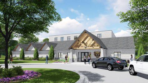 Concept art for the new Varsity Golf Training Facility.