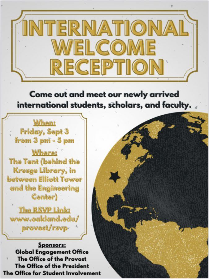 Flyer for the ISSO welcome reception.