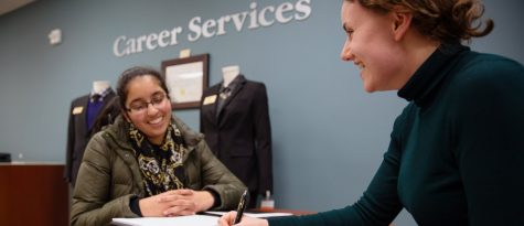 Career Services offers a variety of workshops and Prep Chats to help students prepare for career fairs. Students can visit the office at 154 North Foundation Hall or schedule appointments via Handshake.