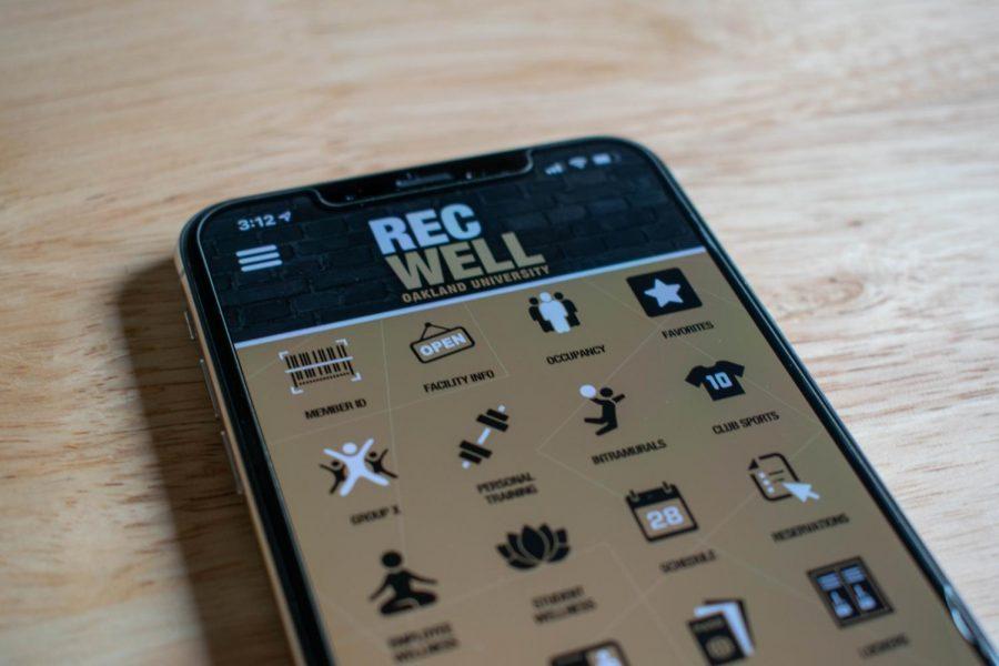 Homescreen of the new Rec Center app.